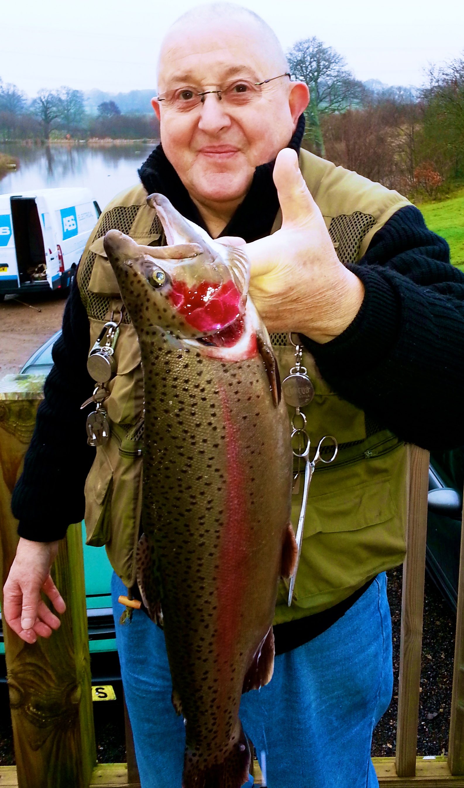 Tony Hipgrave experienced regular catches a 4lb rainbow on a Cats Whisker