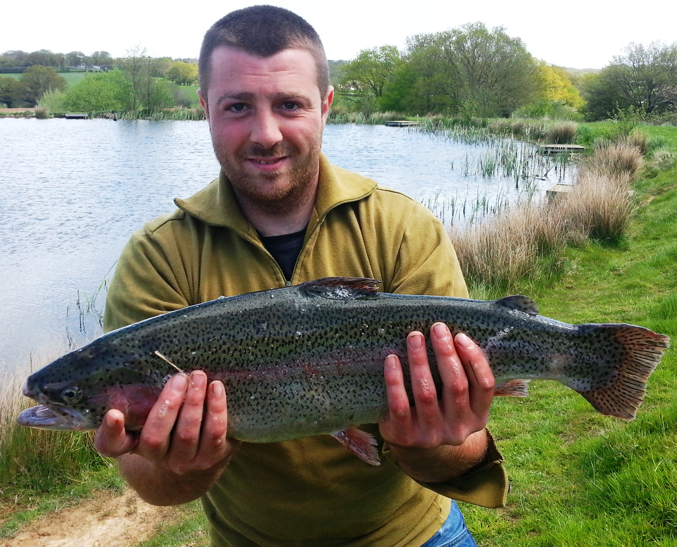 This 6lb rainbow was coaxed onto the bank of Well Lake by a very happy Jake Knott from Battle