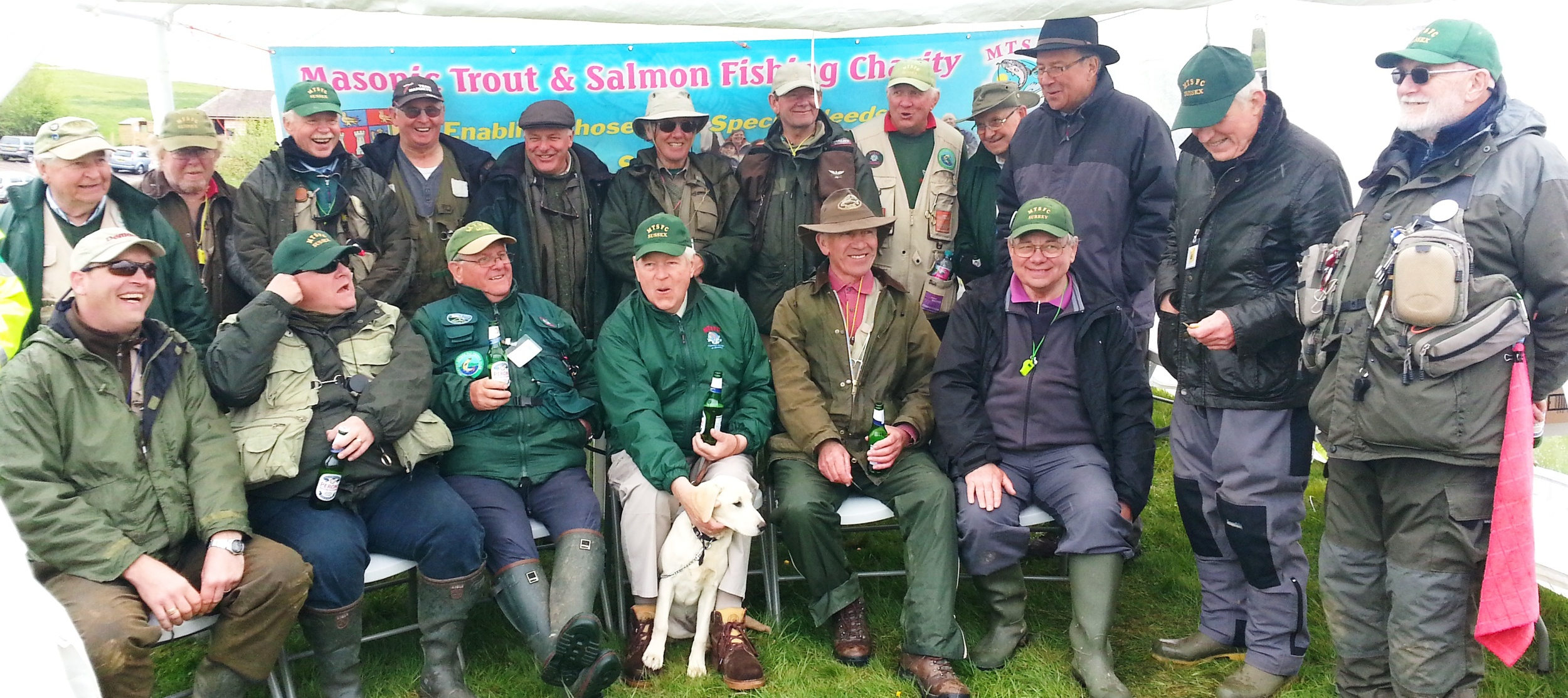 The Masonic Fishing Charity volunteer coaches and helpers