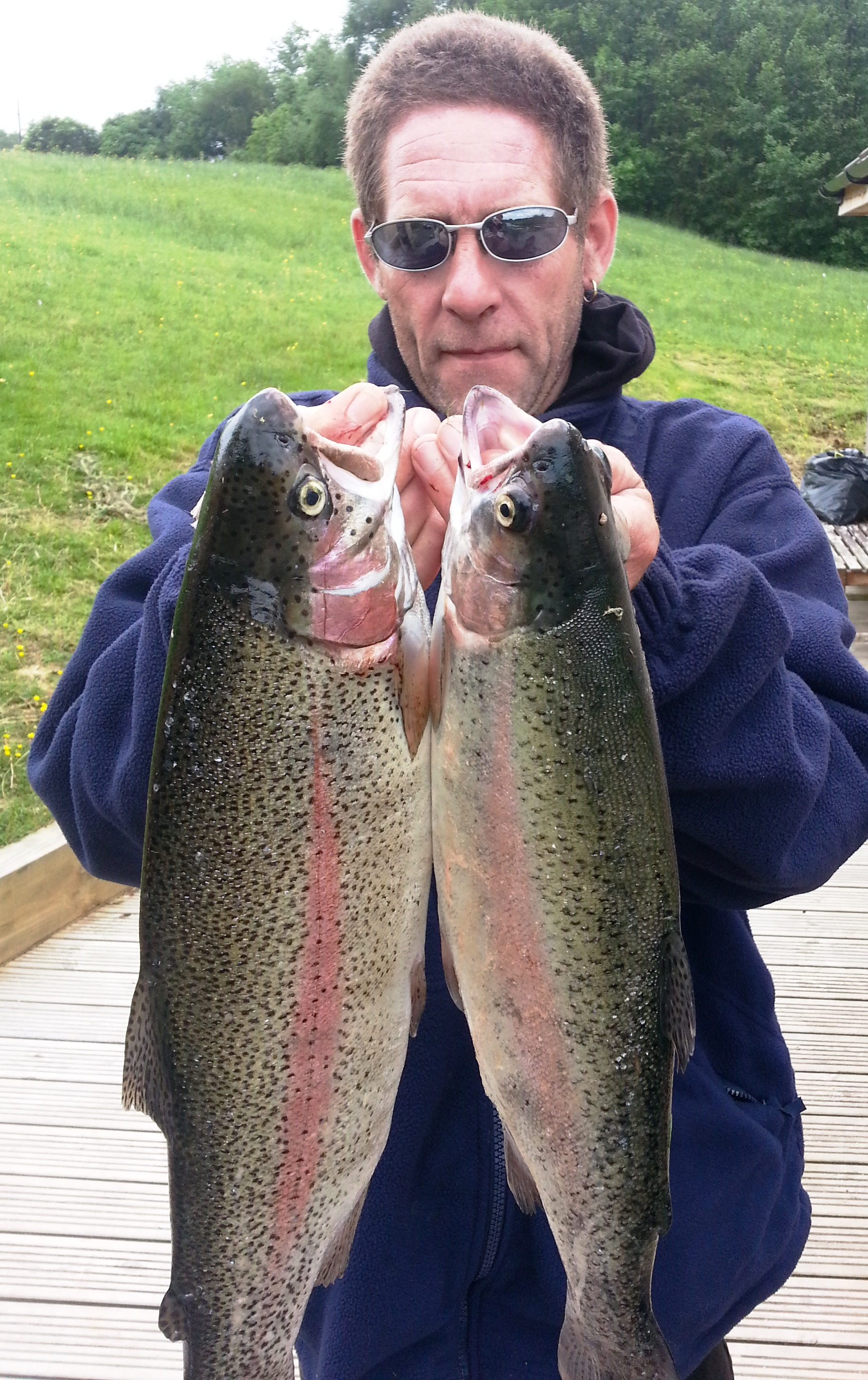 A Parmenter from Bexhill bags a pair including a 4lb 2oz rainbow trout