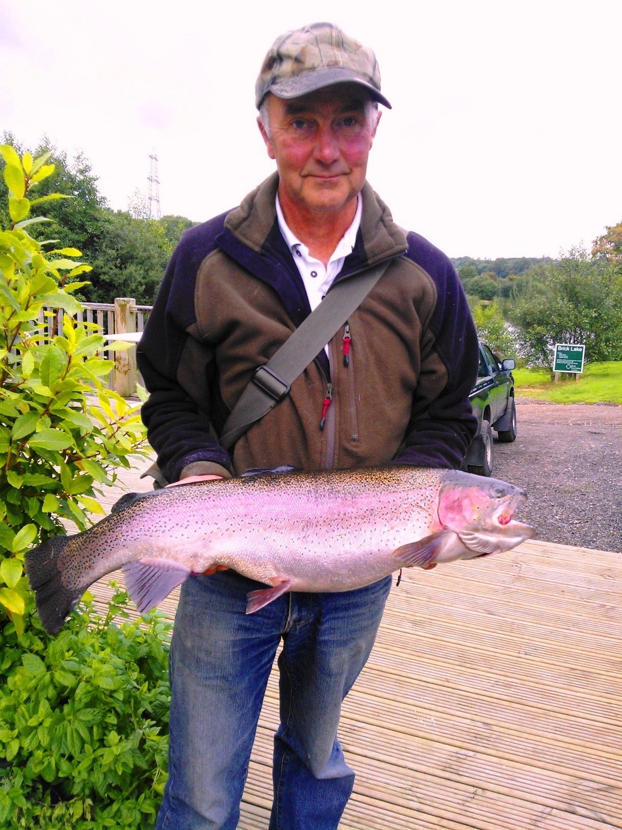 Glen Allen caught this beautiful 11lb 8oz rainbow using a floating line with a Crisp Packet Buzzer on a dropper
