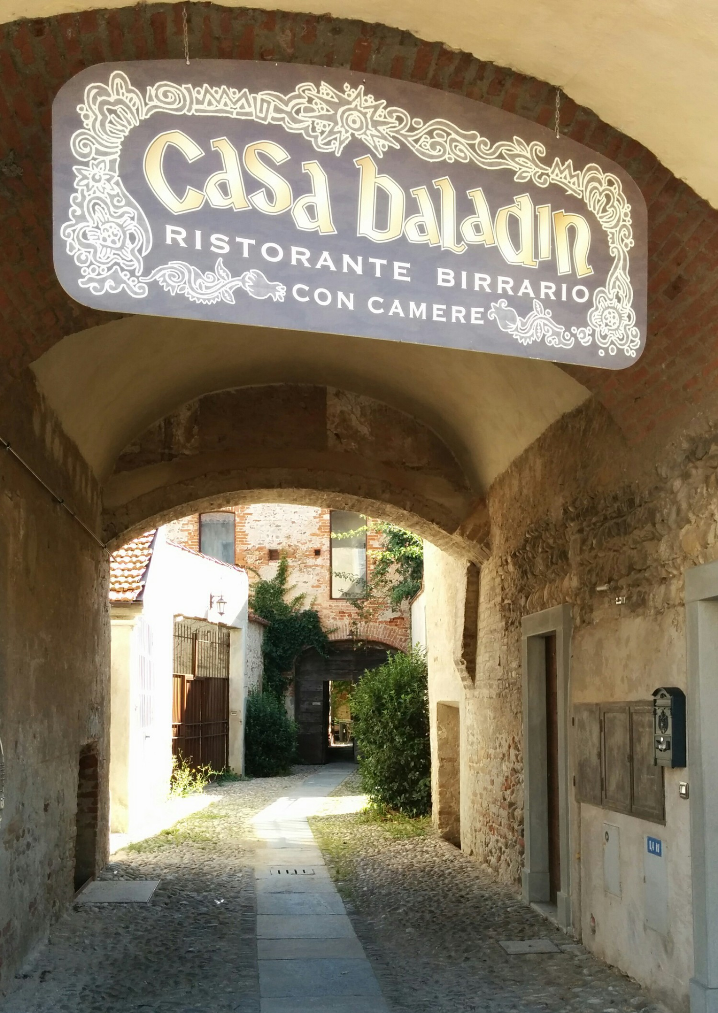 entrance to casa baladin