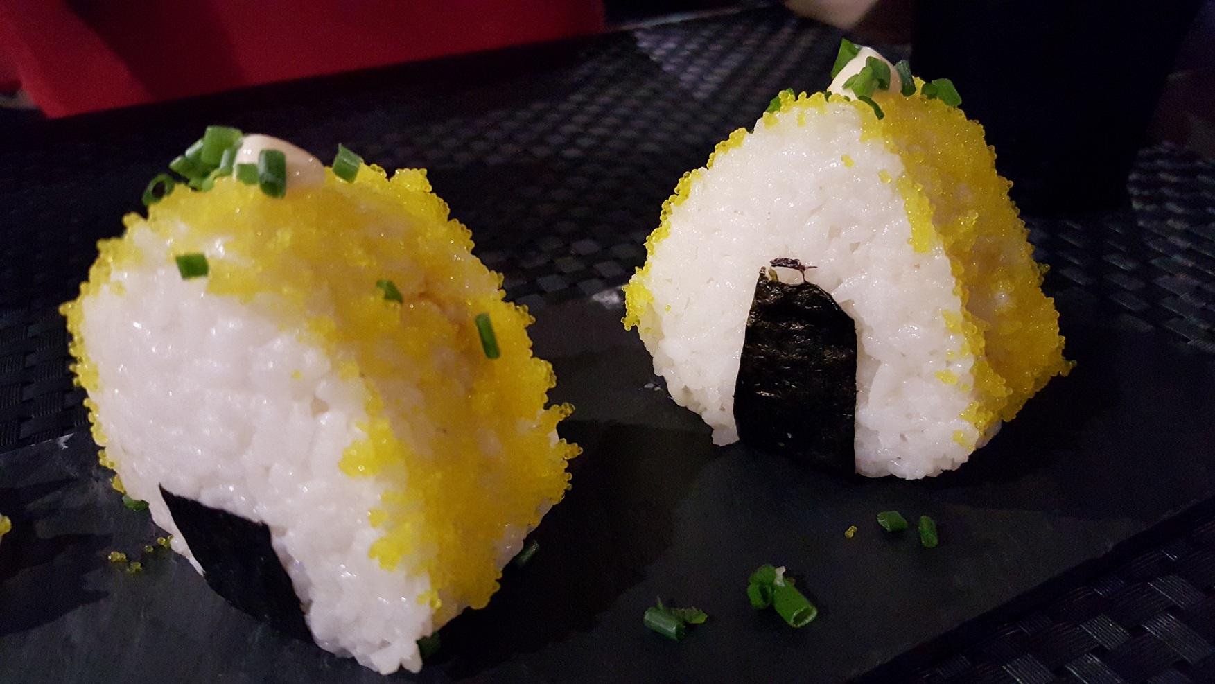 """Onigiri """"Orange""""col salmone"""