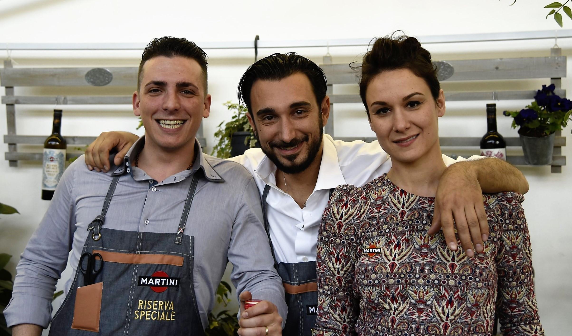 The Martini ambassadors: Daniele, Marco and Elena