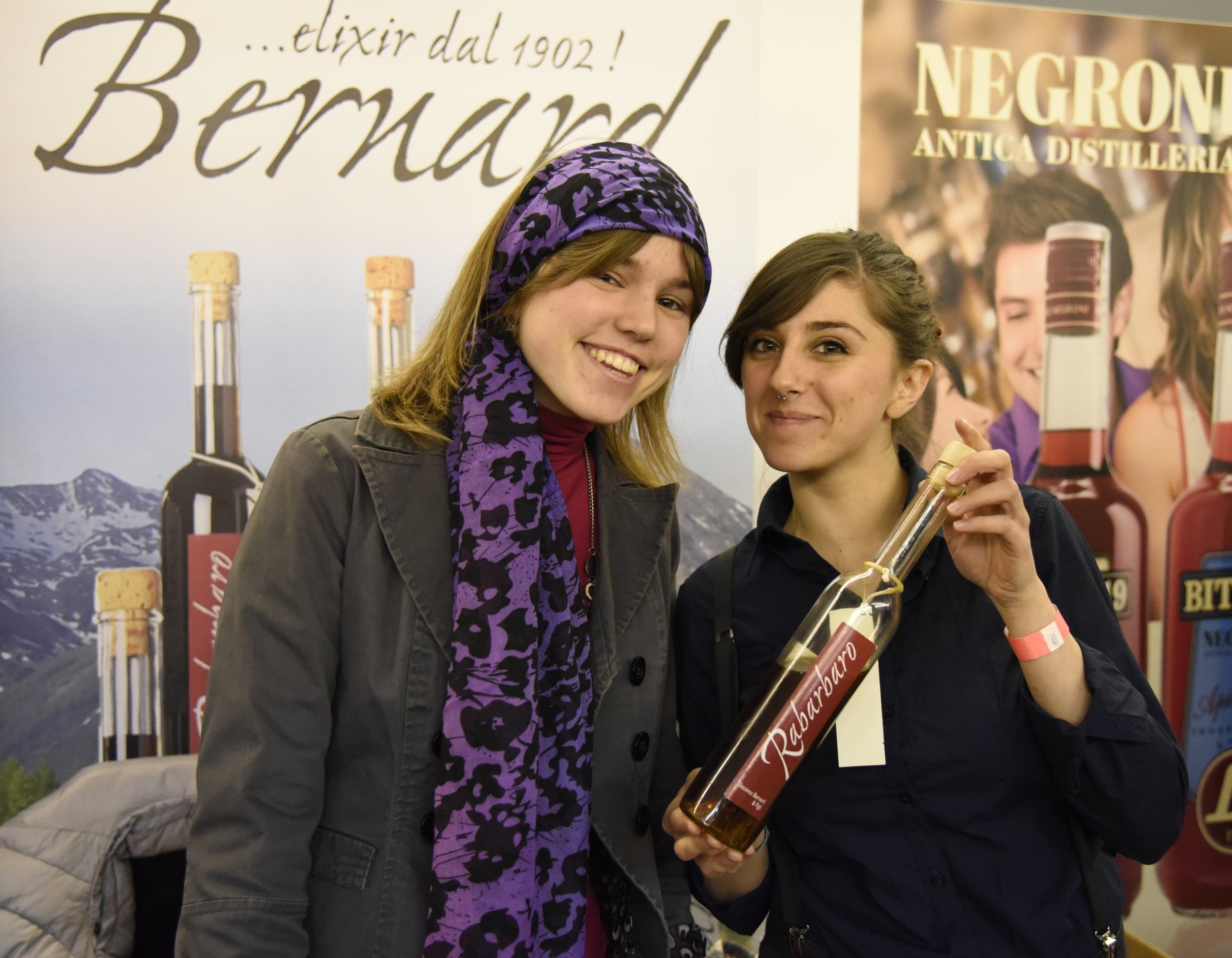 The ladies at the Bernard stand