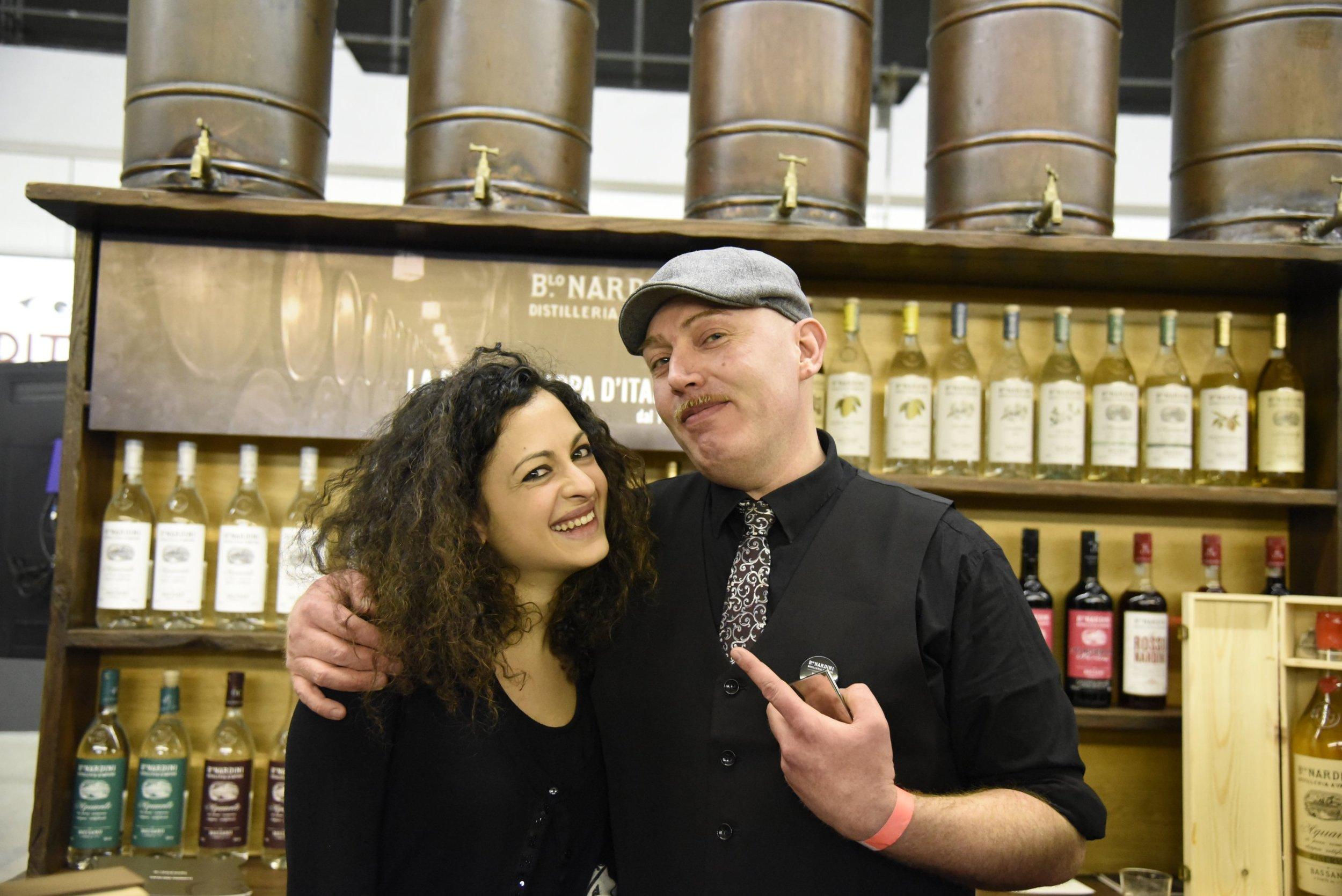 Mauro Uva with Nardini grappe