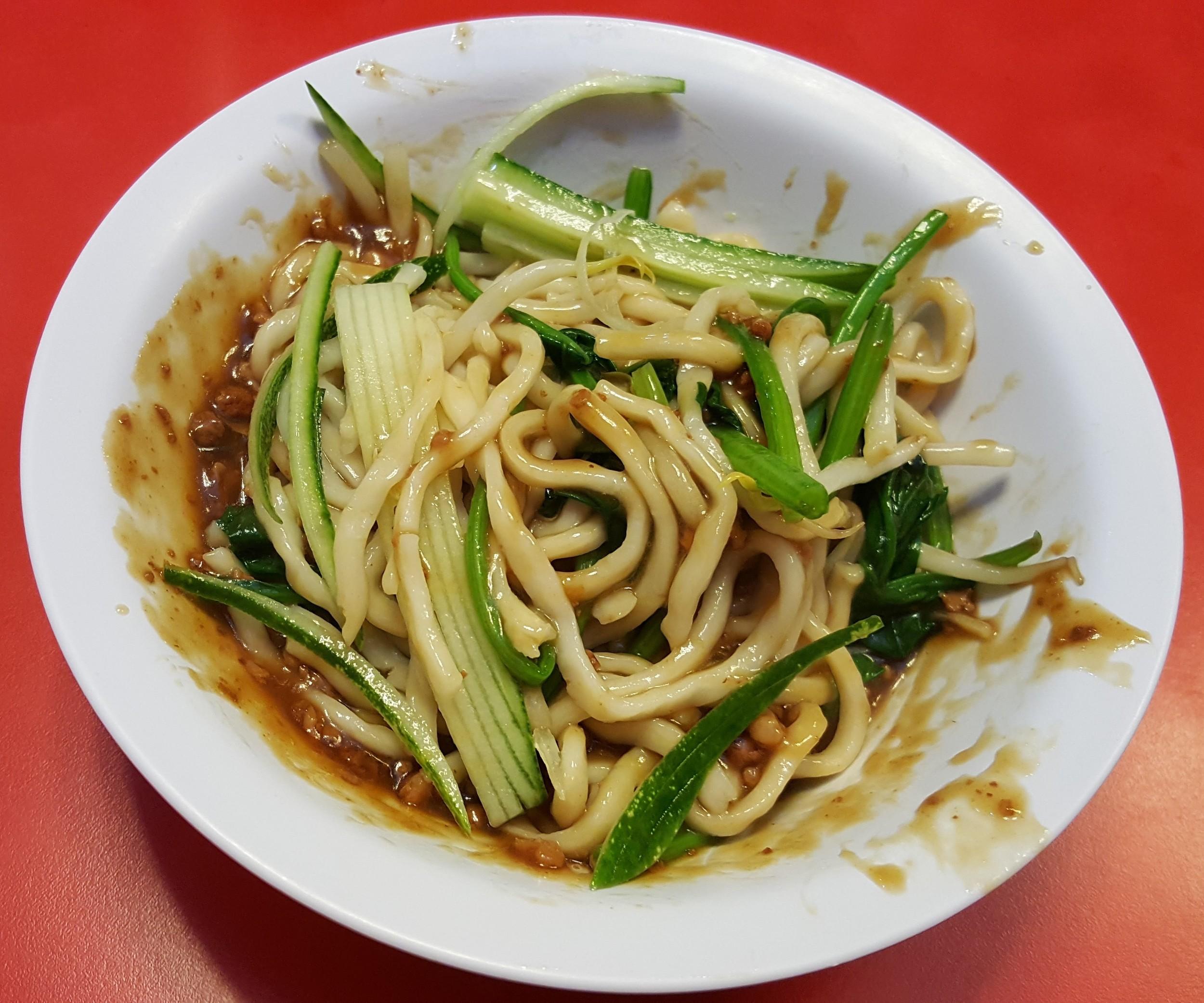 Zha Jiang noodle (minced pork and soya bean sauce)