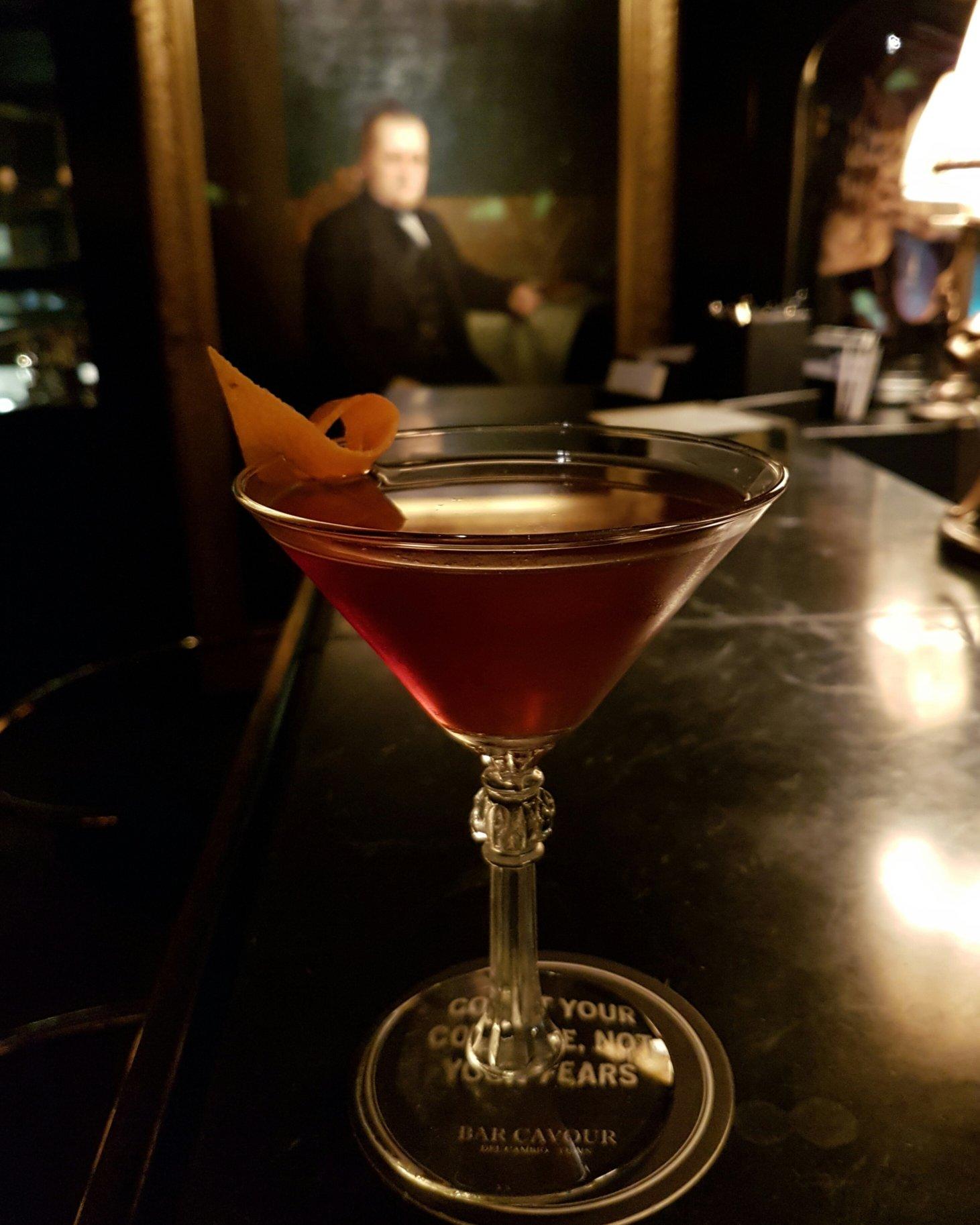 A delicious Manhattan and Camillo Benso, Conte di Cavour