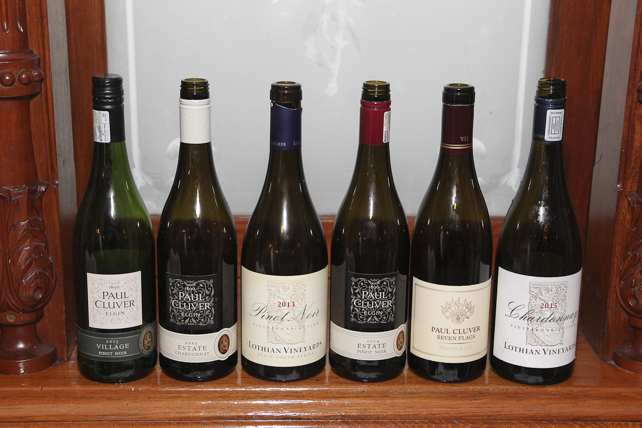 The wines (photo Gavin Withers)