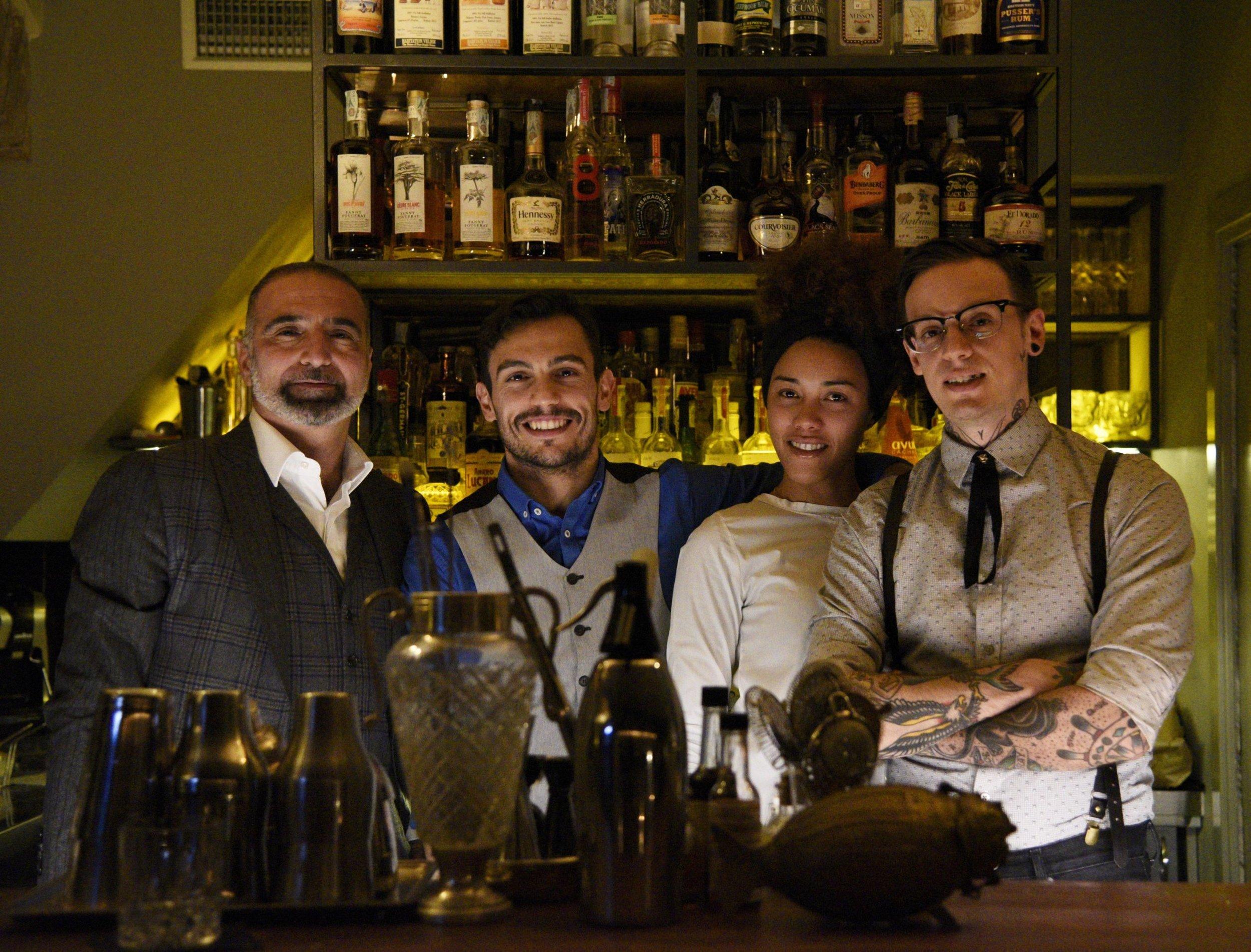 The team: Gianfranco, Carlo, Ayren, Milo