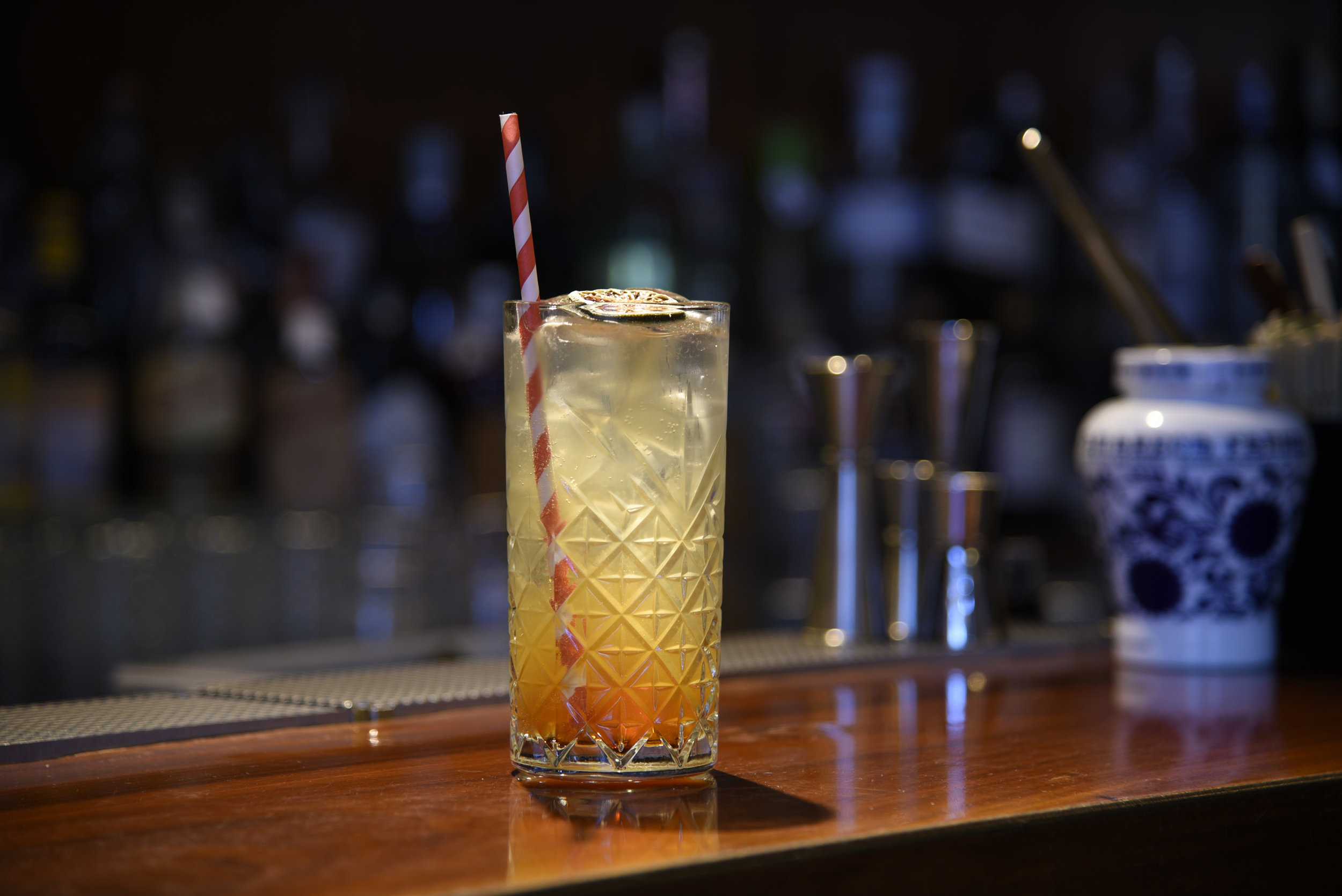 Speyside Mule: Glen Grant 5 yo, Lime, amaro reduction, ginger beer