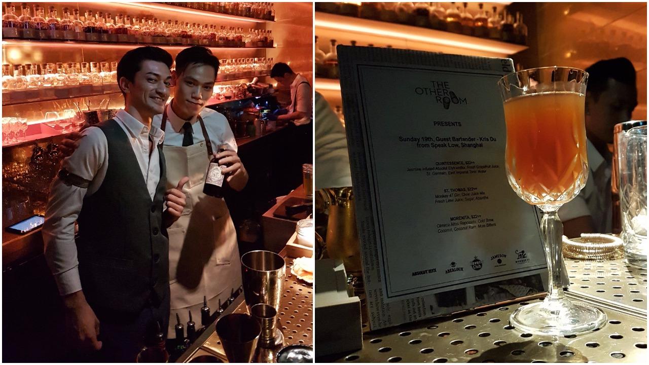 Left: Davide and Kris; Right: Kris's guest shift menu
