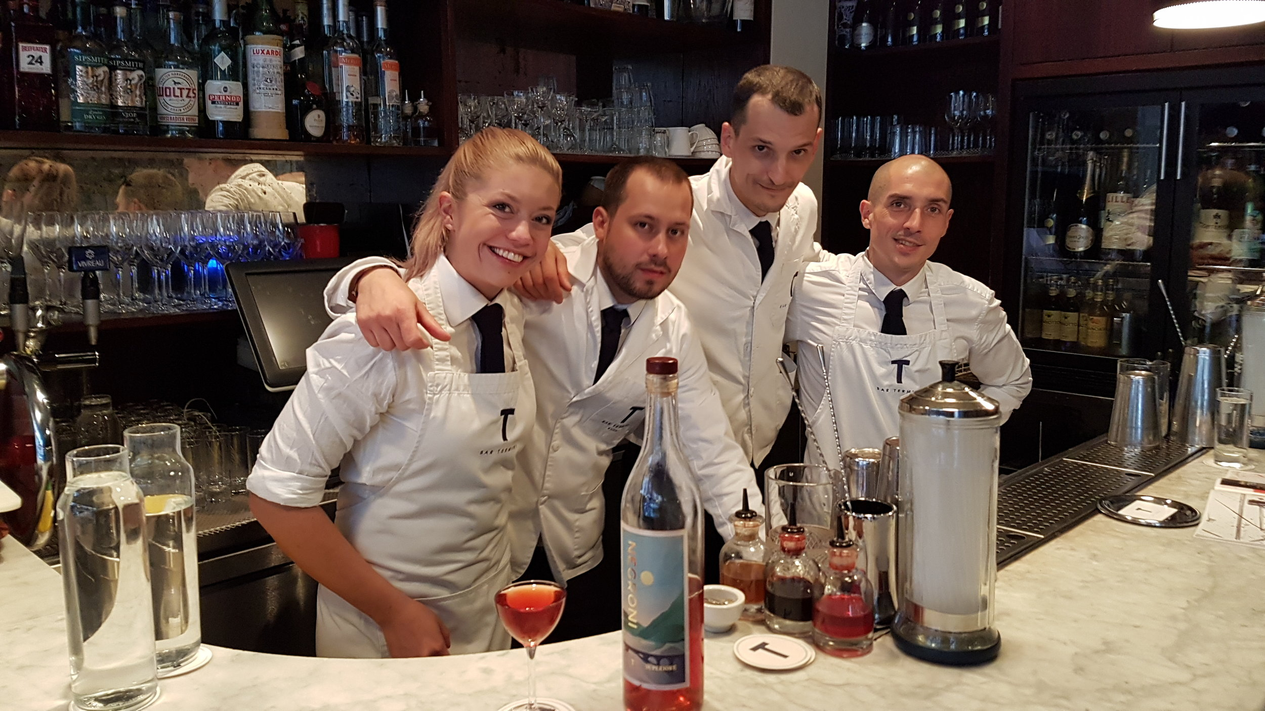 The elegant baristas at Termini just before winning 9th place at W50BB