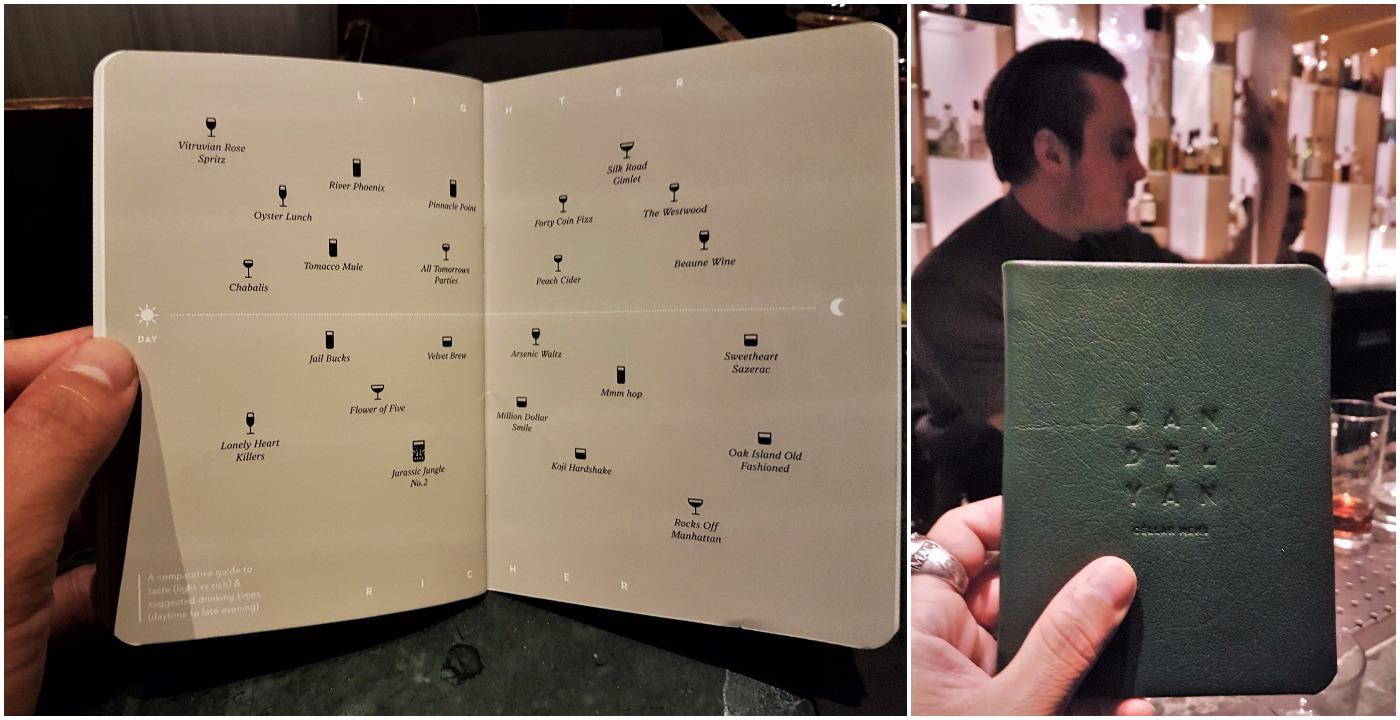 The innovative menu at Dandelyan and the exclusive Cellar menu