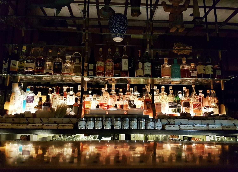 The beautiful bar area at Oriole