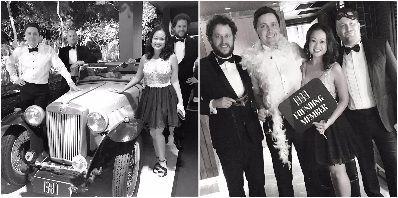 Paul, Sabrina, Neil and Shane at the 1880 founding members gala (Photos courtesy of Sabrina)