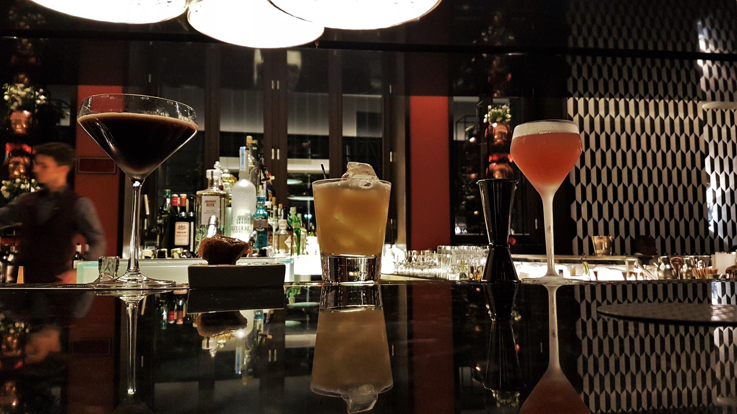 The gorgeous bar counter at Mandarin