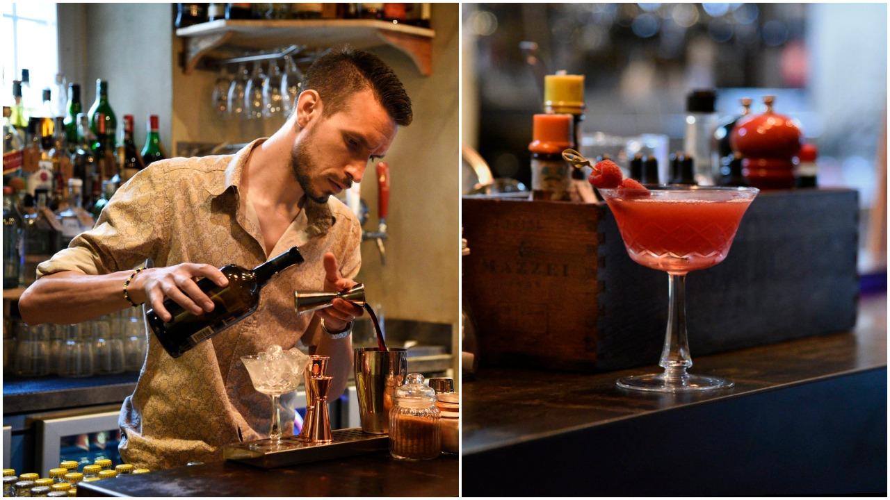 Ale Leuci makes a sumptuous whiskey cocktail; She Sparks (photos Toney Teddy Fernandez)