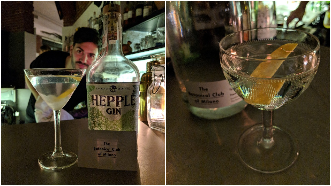 Hepple Gin Martini Cocktail and Tuxedo Cocktail
