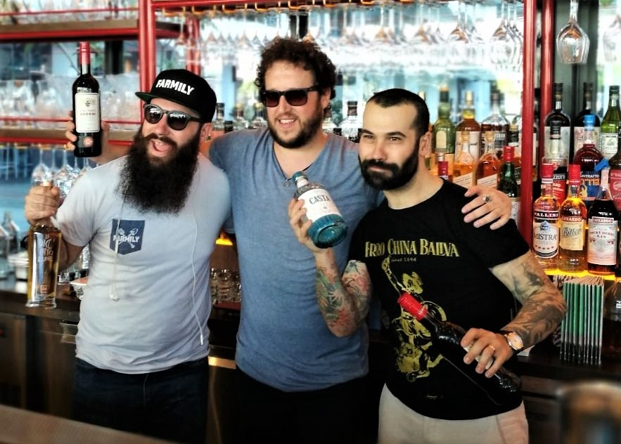 Benjamin, Shane and Diego at Caffe Fernet