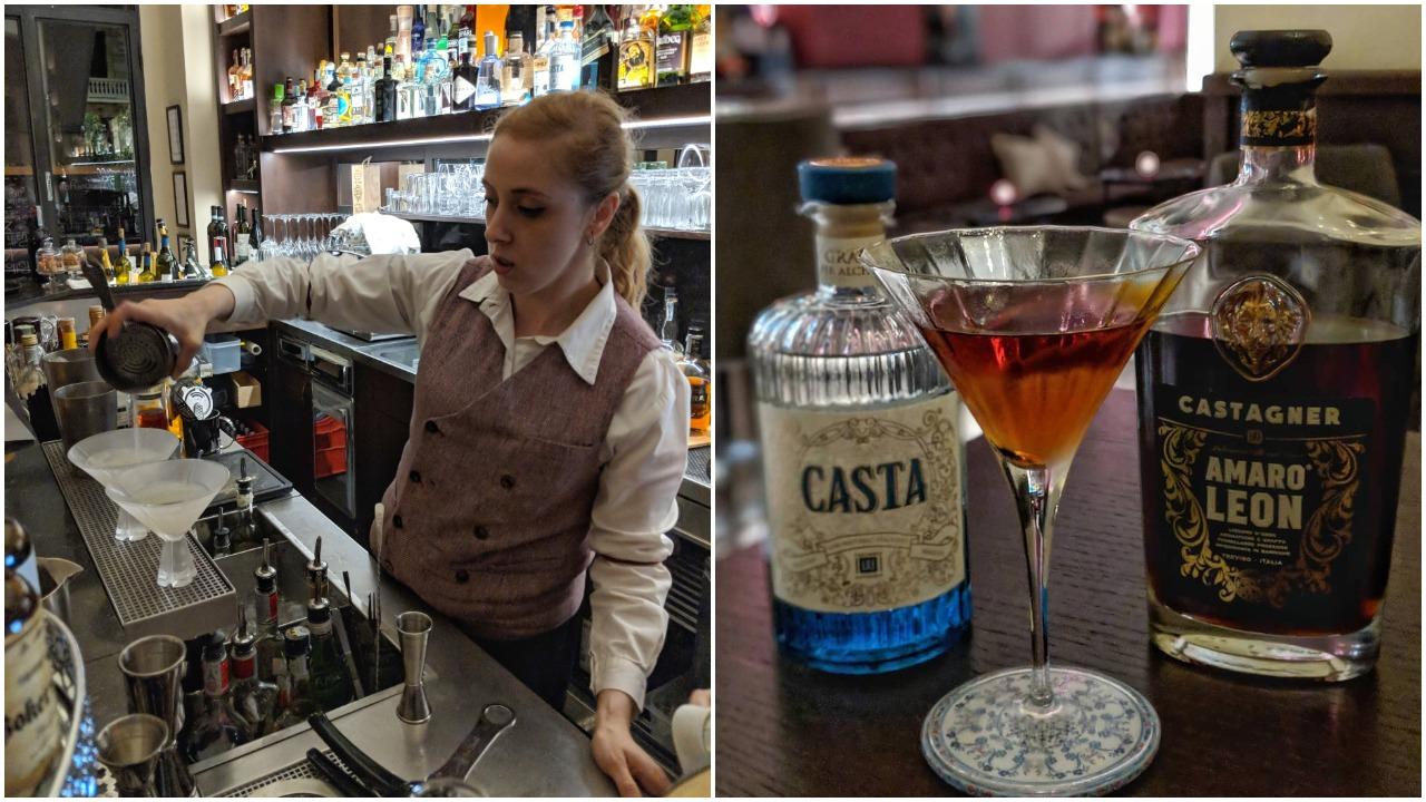 Chiara prepares a Daiquiri; Casta Panky cocktail