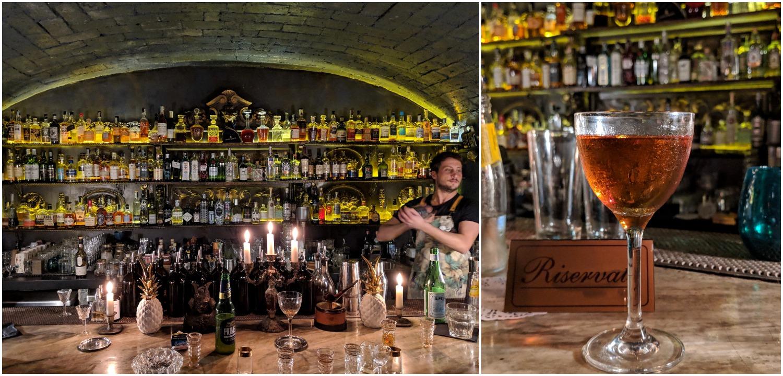 Federico behind the bar, La Plaka cocktail