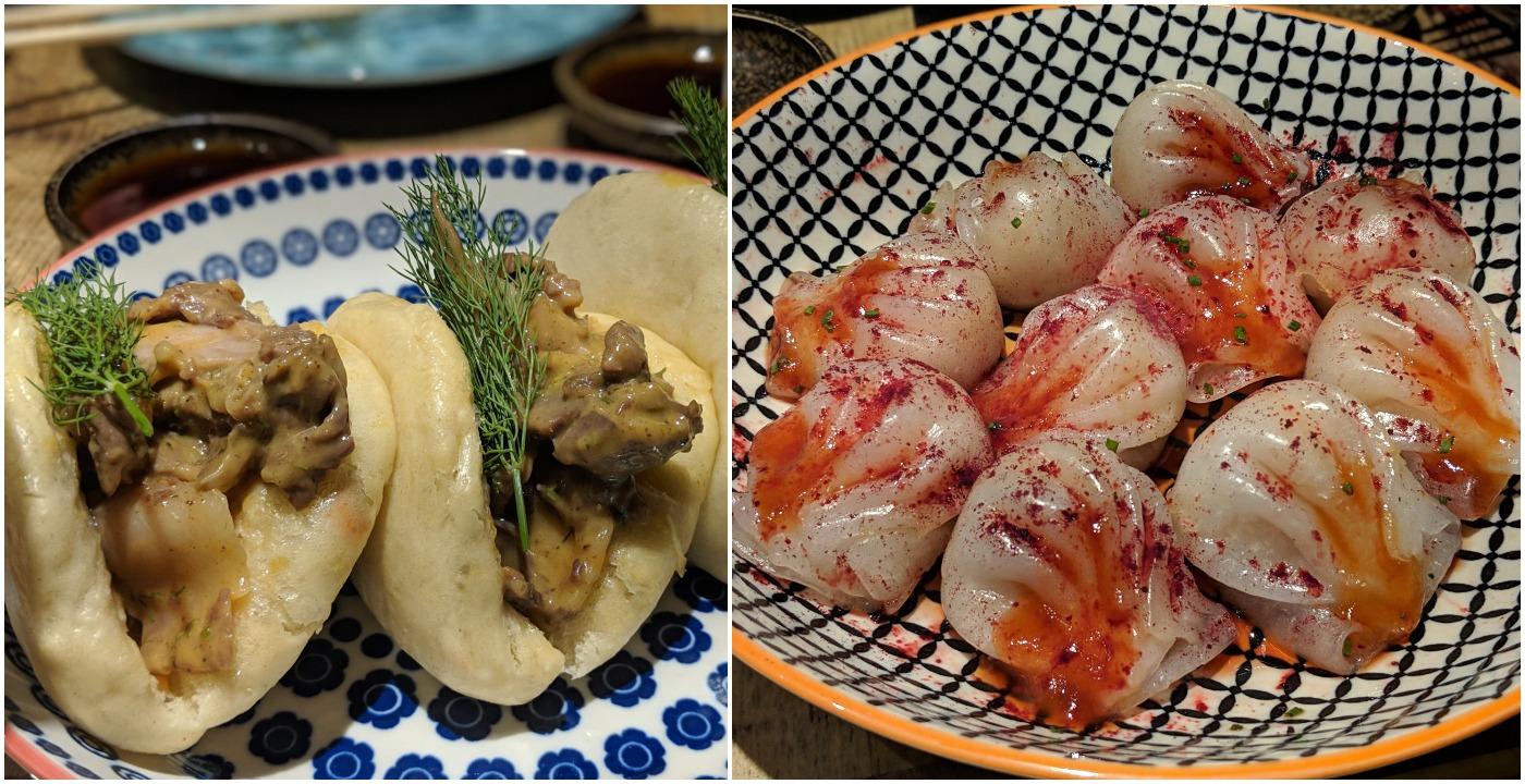 Left: Bao, Right: Dumplings