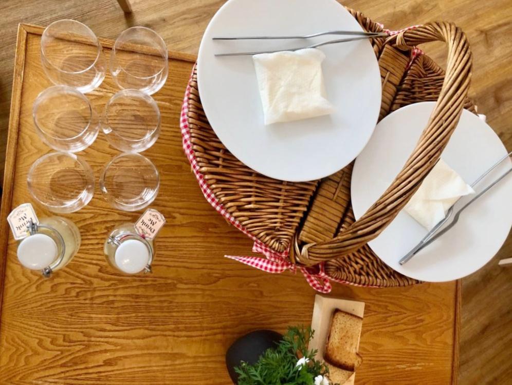 Il cestino del picnic in Val Ferret
