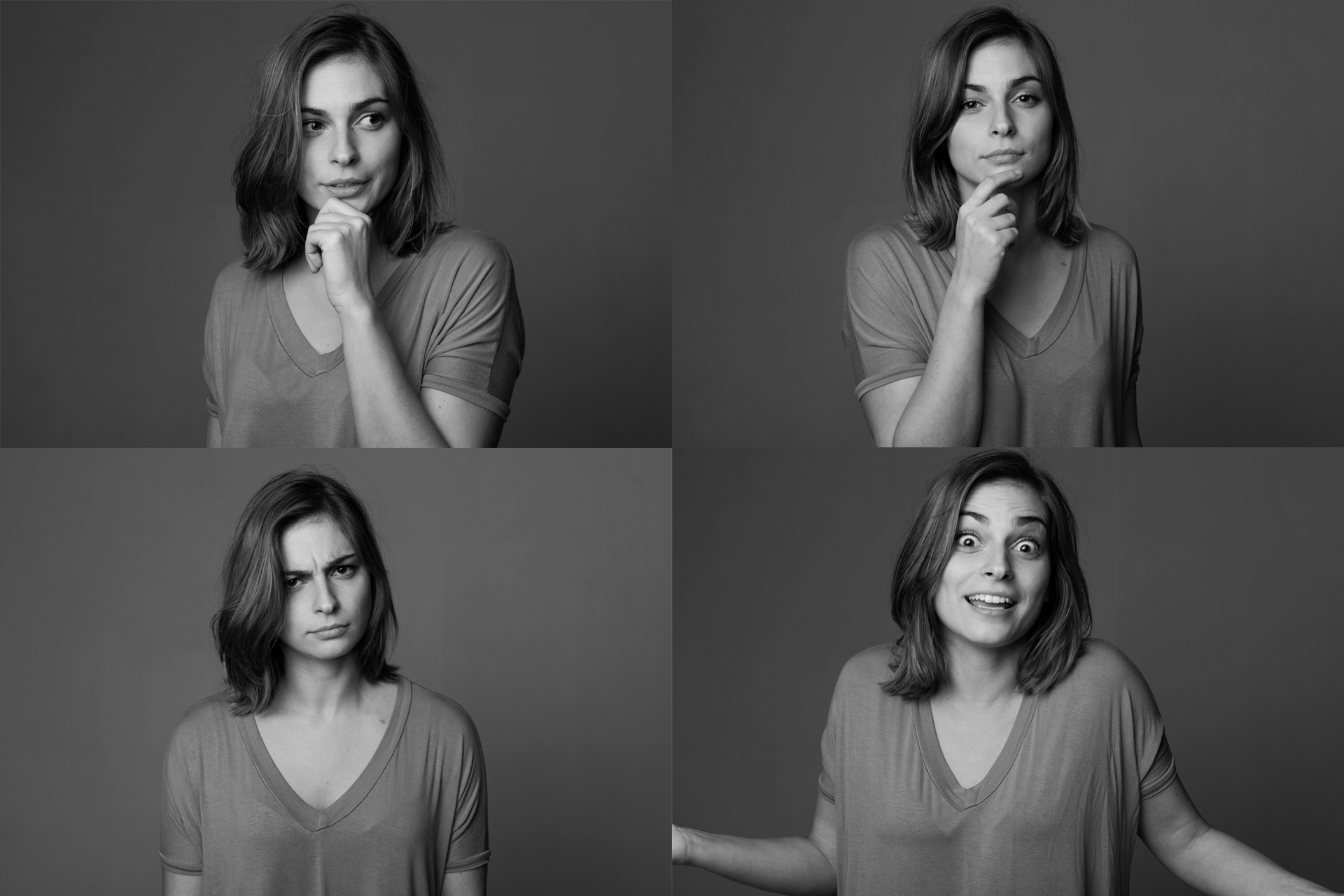 Actress Benedita Pereira looking as clueless as I sometimes feel, when juggling with all the ideas in my mind :)
