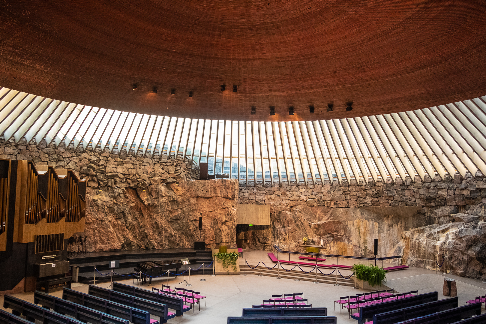 Temppeliaukion Kirkko - the materialization of the Finnish ideal of spirituality in nature. Also known as Rock Church.