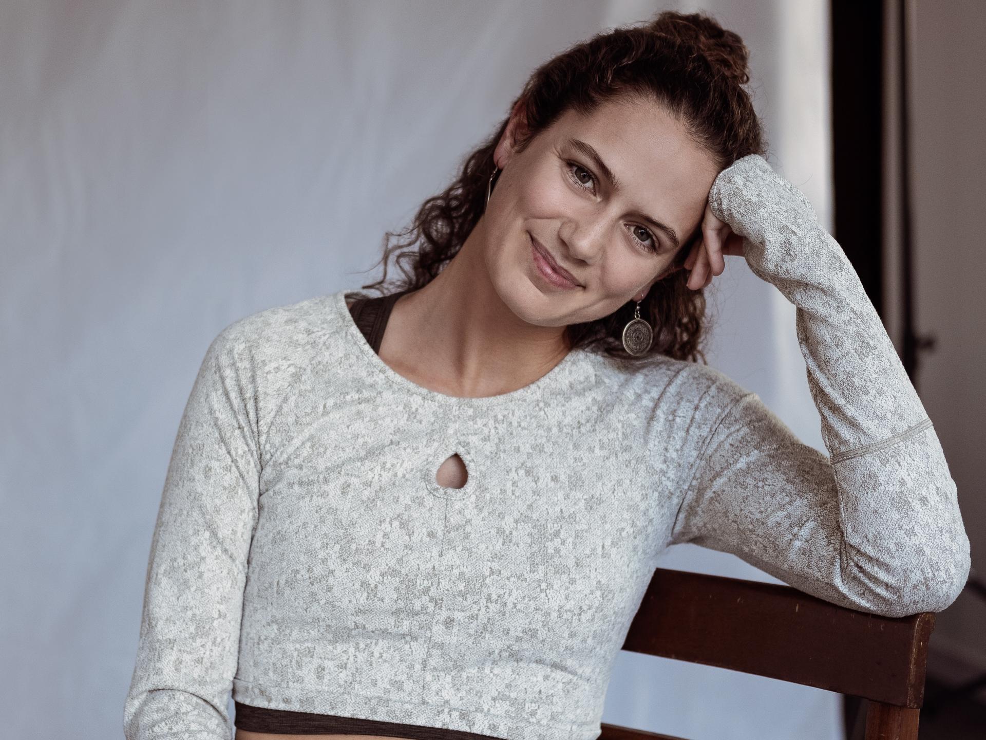 Sofia Mano no estúdio, no dia em que gravámos o episódio.