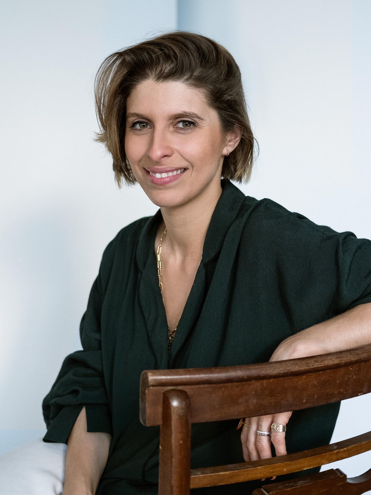 Joana Campos Silva em estúdio, no dia da gravação do episódio