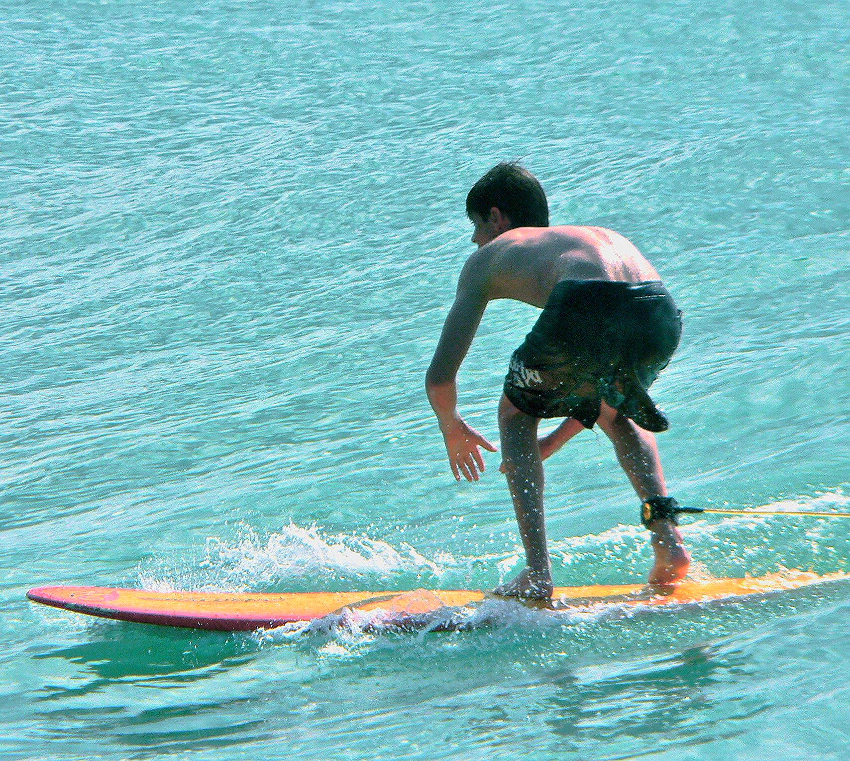 Seth Koller surfing Turtle Bay Hawaii