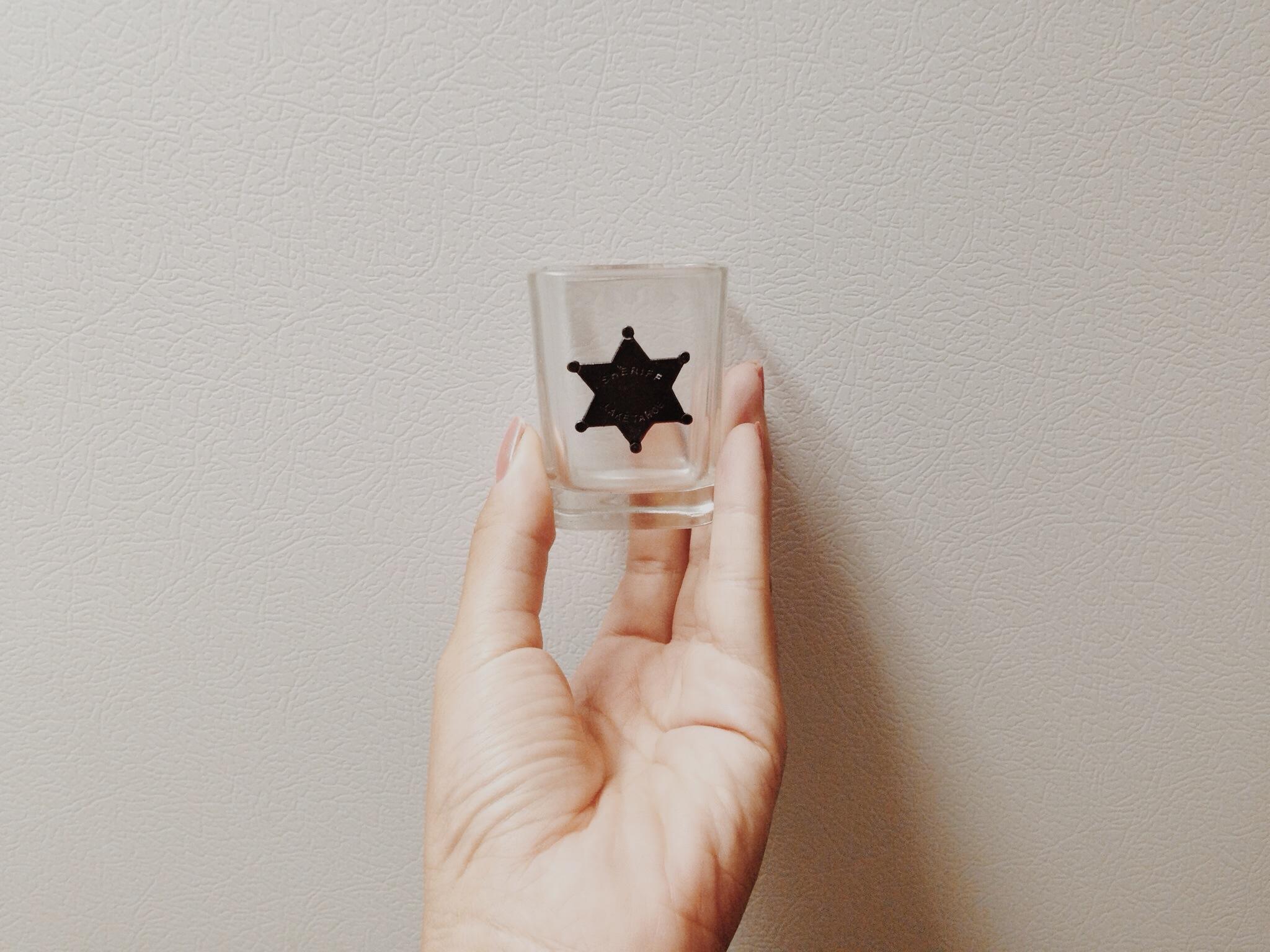 sherif shot glass at the niagara boys' house