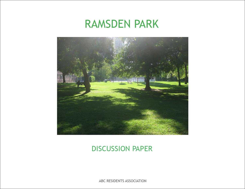 2013 Ramsden Discussion Paper 2014m01d28