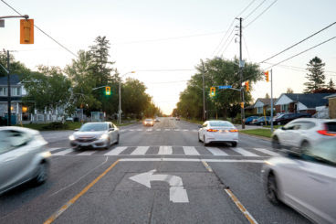 The intersection of St. Clair and Jeanette, where Miehm was struck and killed by a driver who ran a red light