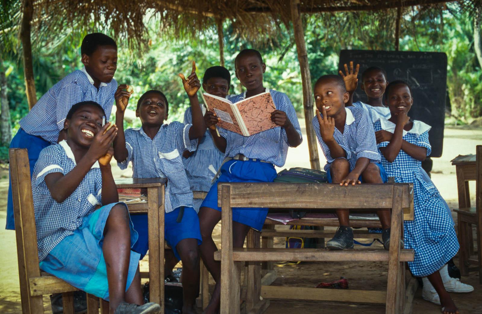 My first classroom, near Koforidua, Ghana, 1999