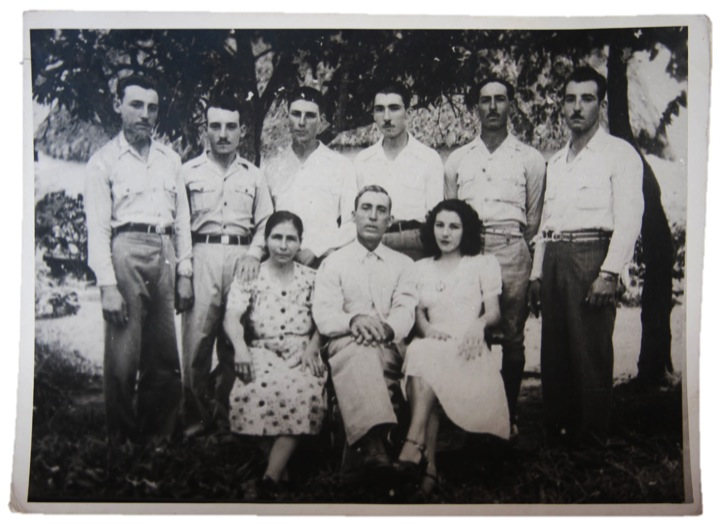 Ángel García & family circa 1950