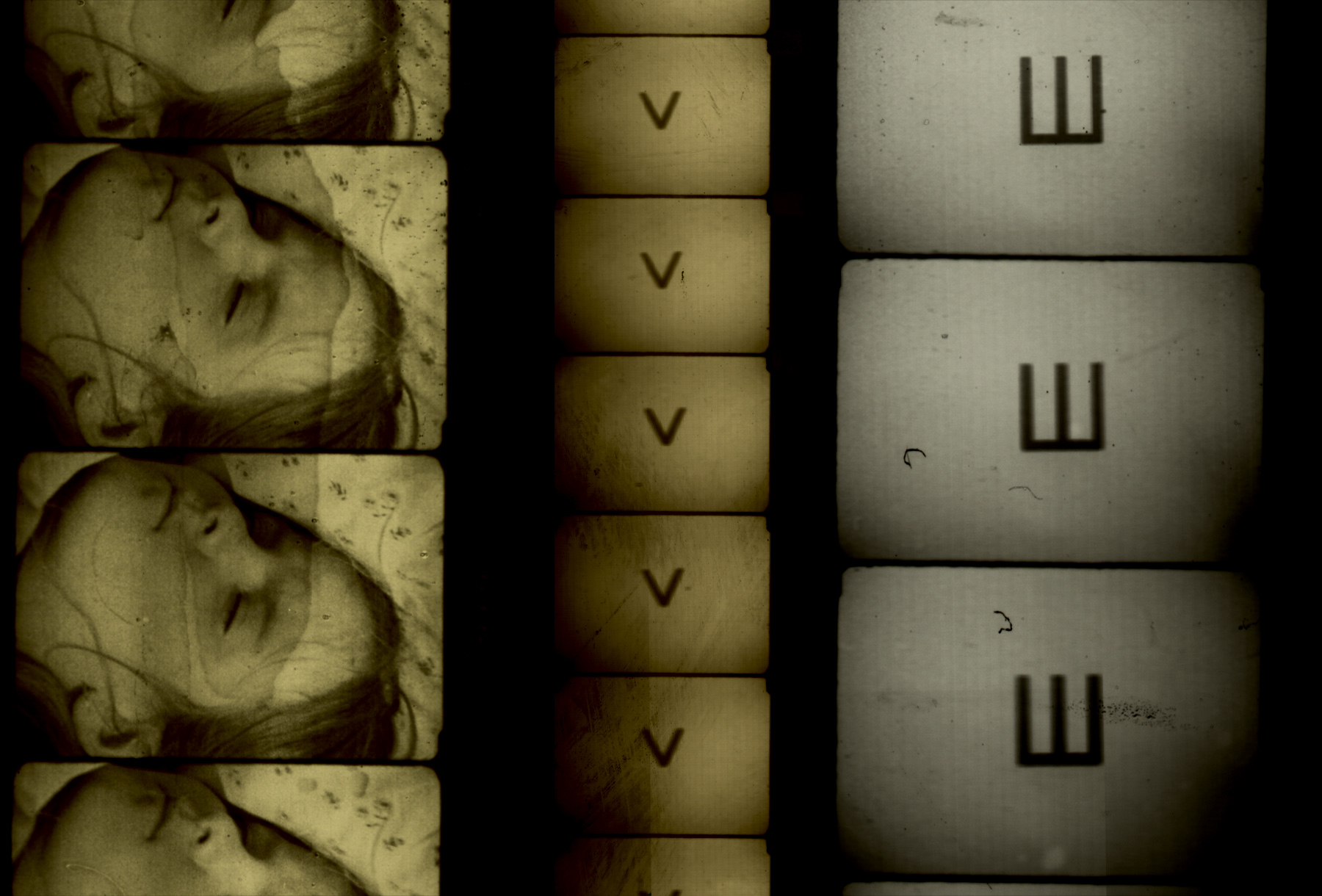 Image: Filmstrips from Alex MacKenzie's  Wooden Lightbox . Courtesy of the artist.