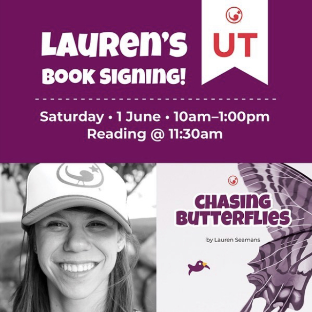 Lauren's Book Signing - 1 June 2019, Saturday—Publik. Coffee Roasters975 S West Temple, Salt Lake City, UT10:00am—1:00pm; Reading @ 11:30am