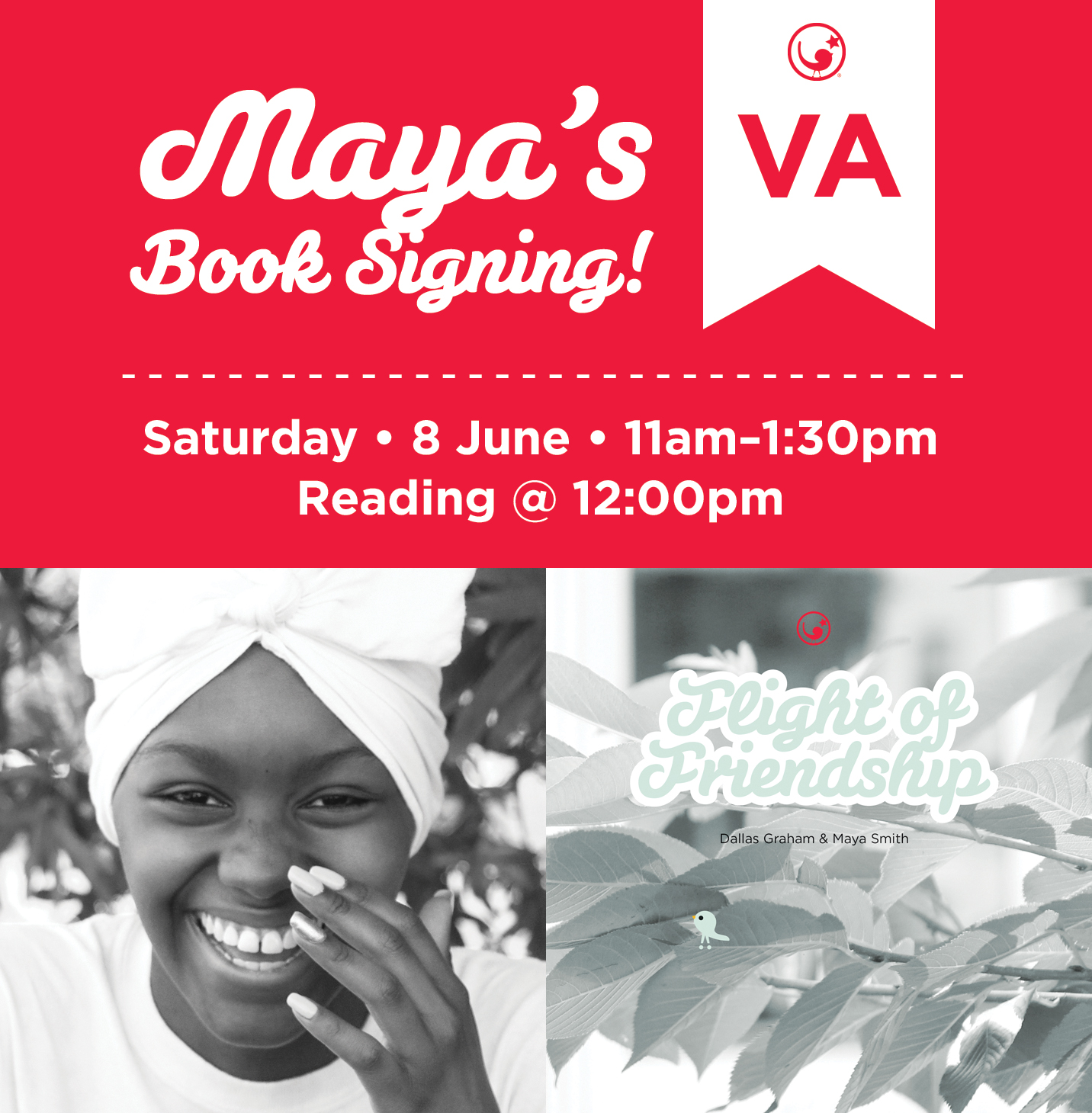 Maya's Book Signing - 8 June 2019, Saturday—Black History Museum & Cultural Center of Virginia122 West Leigh Street, Richmond, Virginia11:00am—1:30pm; Reading @ 12:00pm