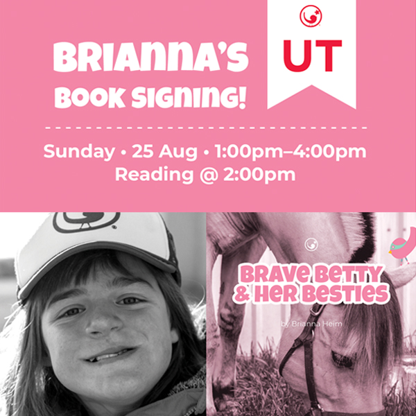 Bri's Book Signing - 25 August 2019–The Gala Hideaway at Arrowhead Stables897 South Angel Street, Layton, Utah1:00pm—4:00pm; Reading @ 2:00pm