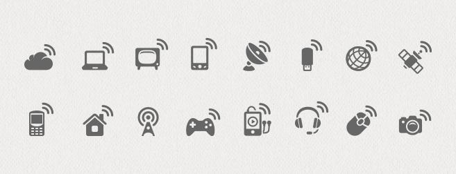 Wireless Communications Icon Set