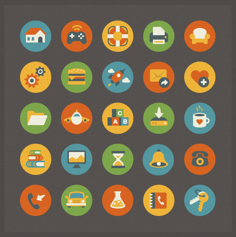 Vintage Flat Icons
