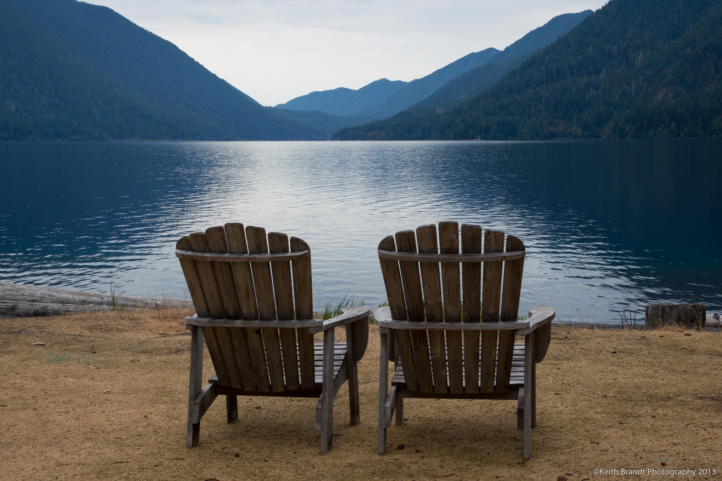 A couple at Lake Crescent