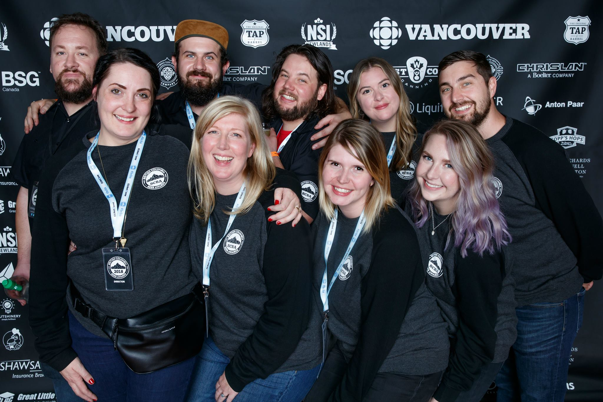 BC Beer Awards Team 2018. Photo credit: Charles Zuckermann Photography