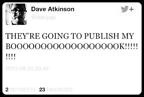 Dave's social media presence was the charming icing on his delicious manuscript cake.
