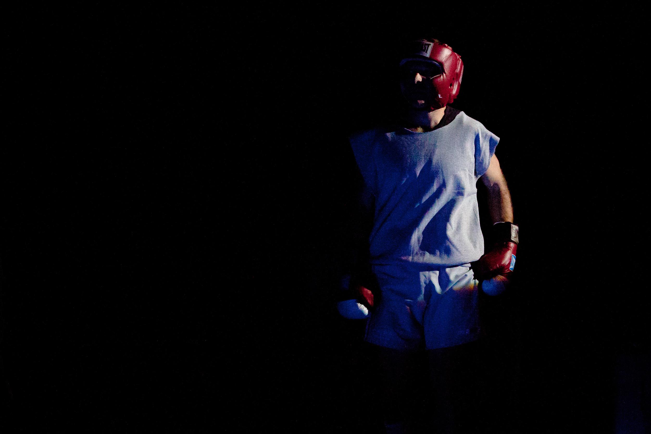 Fight 3: Steve Bryant v. Adam GlazerHaymakers for Hope at the Hammerstein Ballroom in New York City, Nov. 14, 2013.