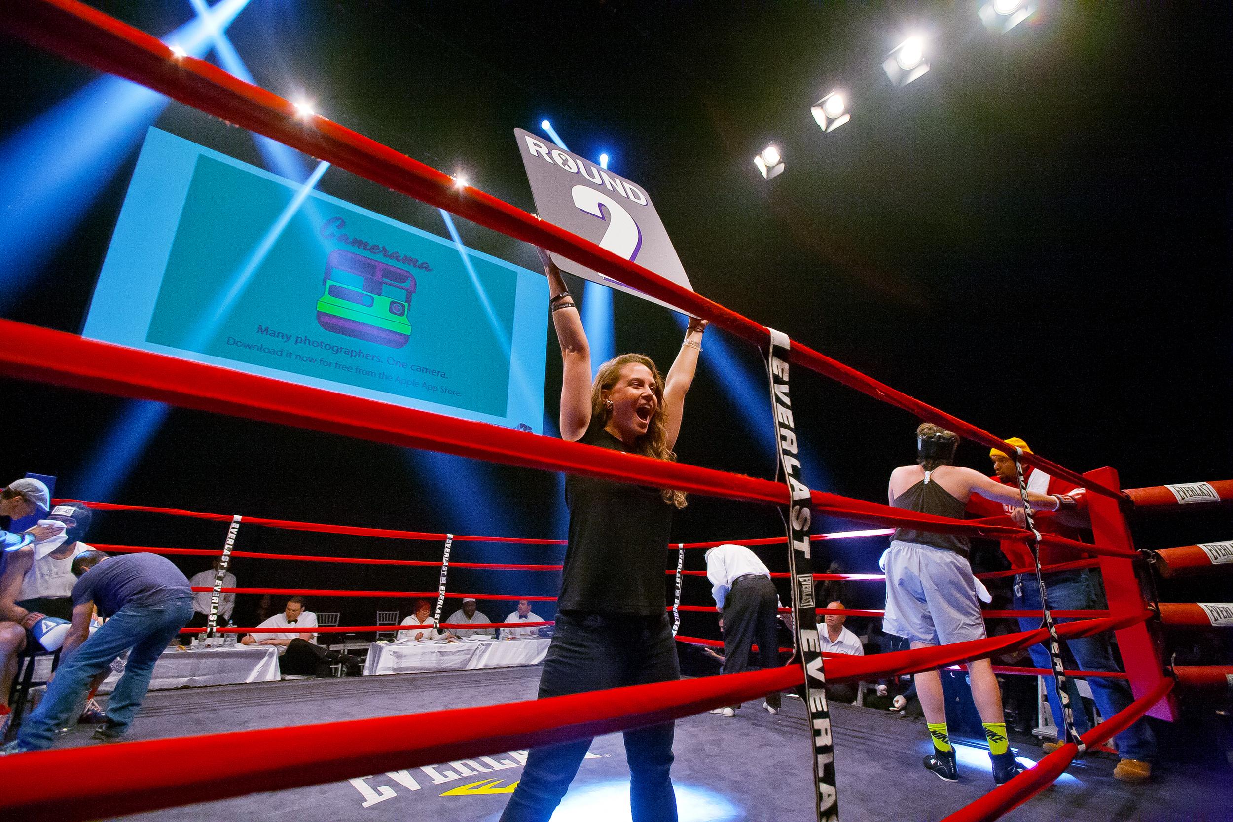 Fight 13: Scott Bruckmann v. Salah ZalatimoHaymakers for Hope at the Hammerstein Ballroom in New York City, Nov. 14, 2013.