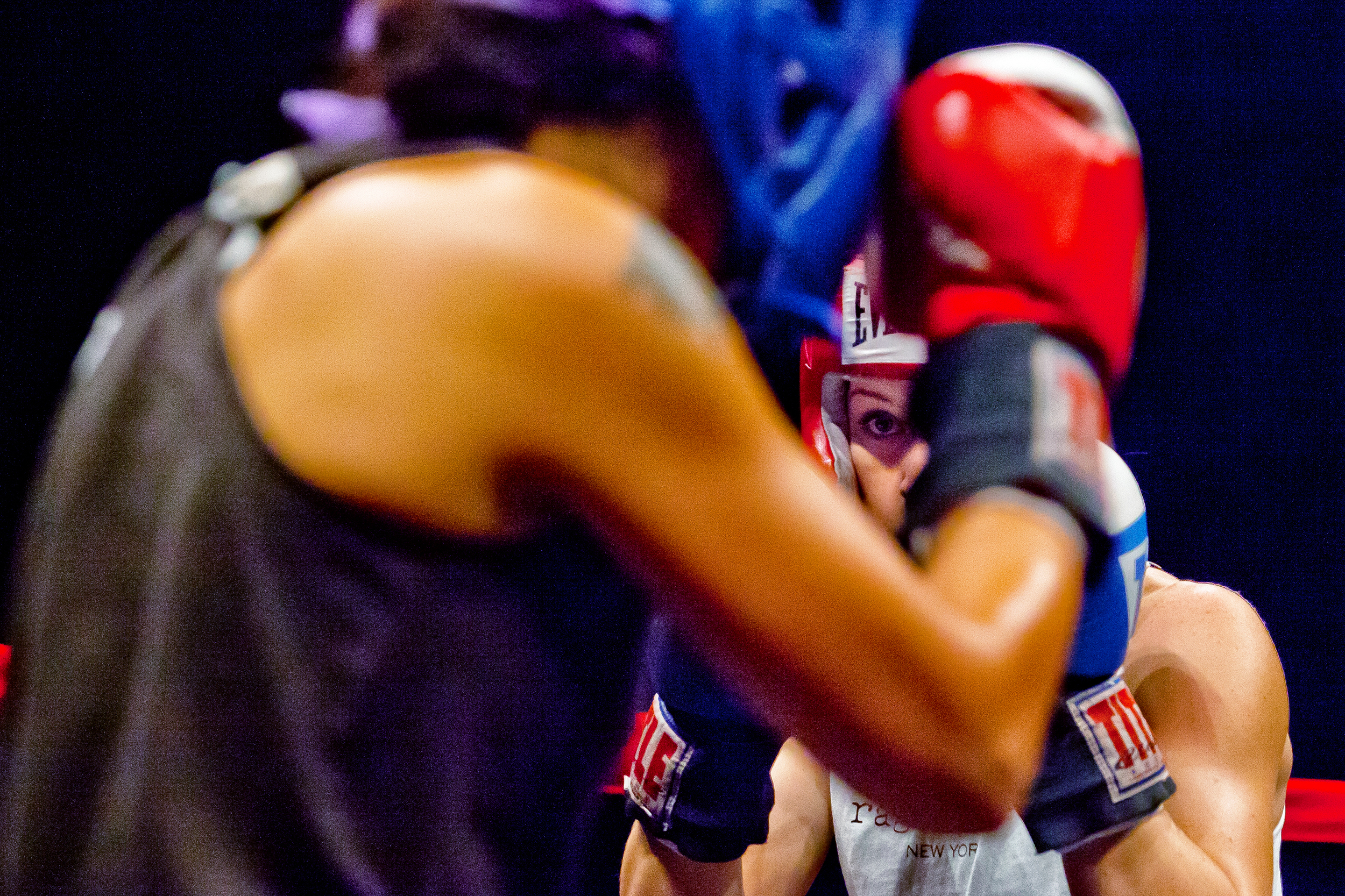 Fight 2: Raquel Cepeda v. Macy TankingHaymakers for Hope at the Hammerstein Ballroom in New York City, Nov. 14, 2013.